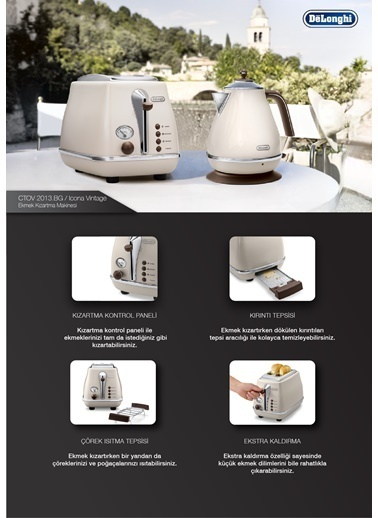 Delonghi CT0V2103.BG+BW Ekmek Kızartma Makin Renkli